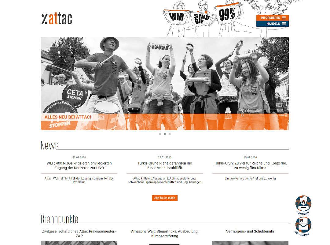 Startseite attac.at